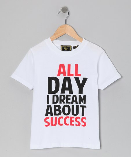 White 'All Day I Dream' Tee - Boys