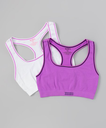 Petunia & White Sports Bra Set - Girls