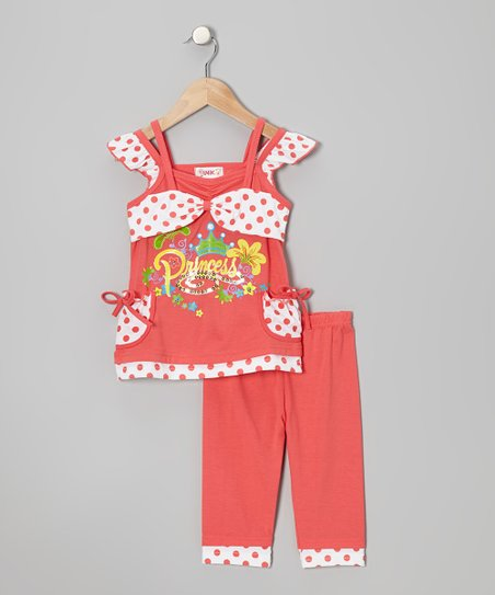 Coral 'Princess' Tunic & Leggings - Toddler & Girls
