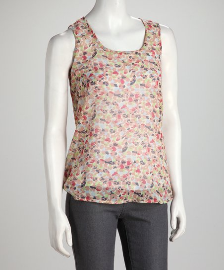 Tan Abstract Spot Tank