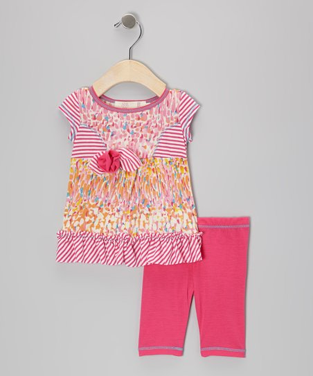 Fuchsia Princess Tunic & Leggings - Infant