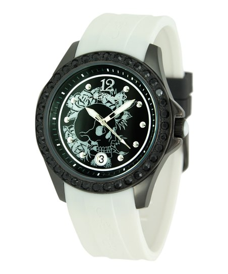 White Techno Watch