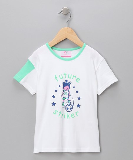 White 'Future Striker' Tee - Girls