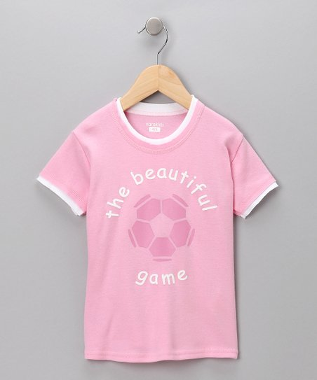 Pink 'The Beautiful Game' Tee - Toddler & Girls