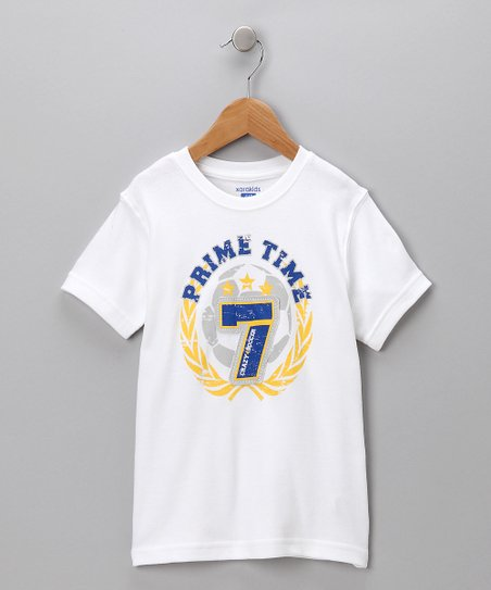 White 'Prime Time' Tee - Toddler & Boys