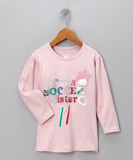 Pink 'I'm a Soccer Sister' Tee - Toddler & Girls