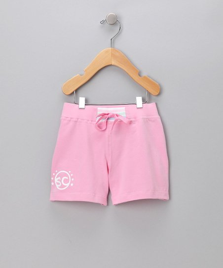 Pink 'SC' Shorts - Toddler & Girls