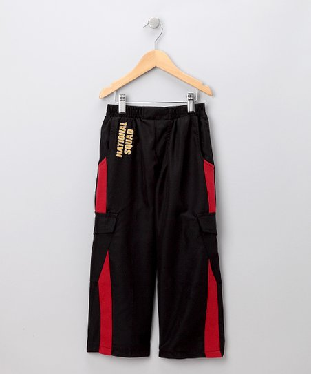 Black &amp; Red Warm-Up Pants - Toddler &amp; Boys