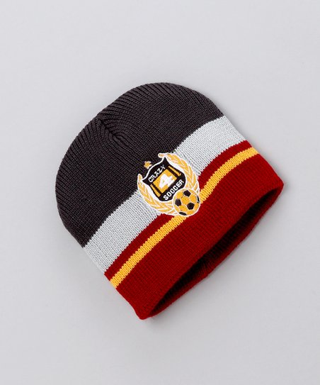 Black & Red 'Crazy 4 Soccer' Beanie