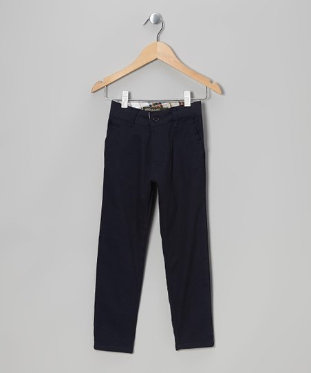 Navy Chino Pants - Girls