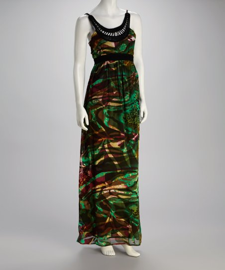 Black Oil Paint Maxi Dress