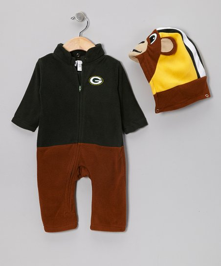 Green Bay Packers Fleece Playsuit - Infant & Toddler
