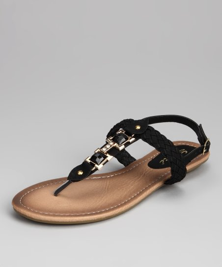 Black Bali Sandal