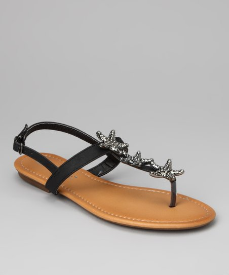 Black Jillie Sandal