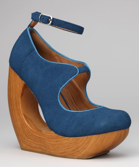 Blue Classy Wedge