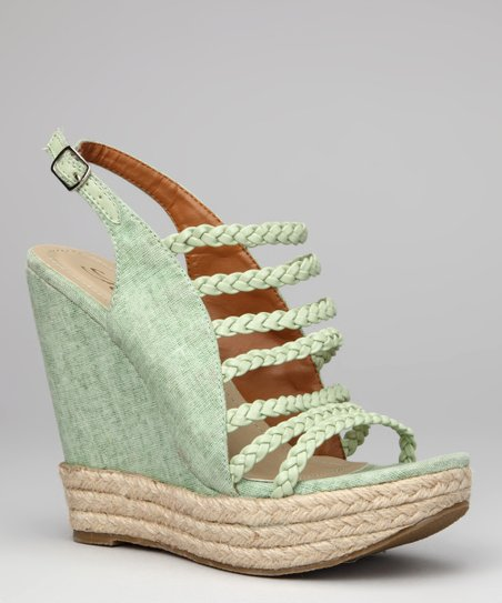 Green Molly Wedge Sandal