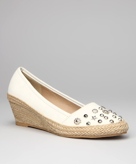 White Holly Espadrille