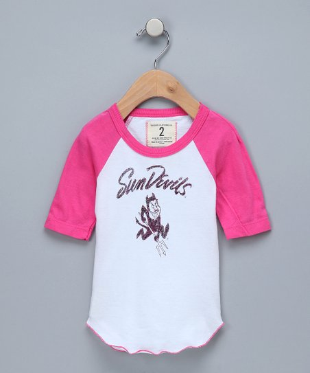 White & Petal Arizona State 'Sun Devils' Raglan Tee - Girls