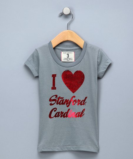 Oxford Gray &#039;I Love Stanford Cardinal&#039; Tee - Girls