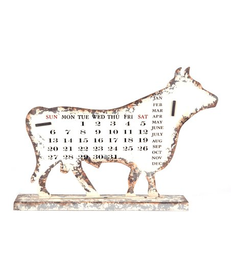 Cream Cow Distressed Calendar