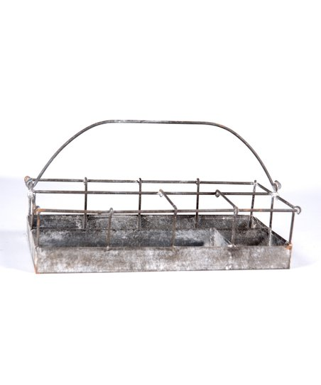 Whitewash Distressed Utility Basket