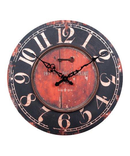 Black & Rust Vintage Wall Clock