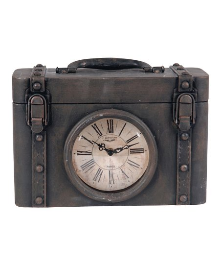 Black Metal Clock Box