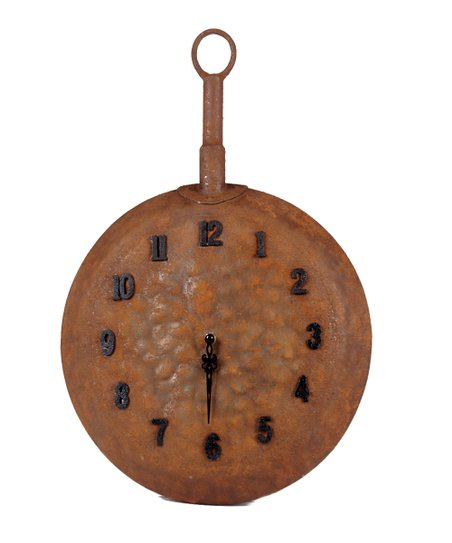 Rust Brown Pan Wall Clock