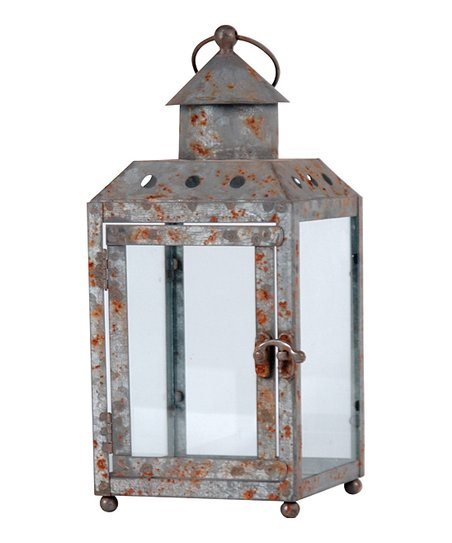 Antique White Lantern Candleholder