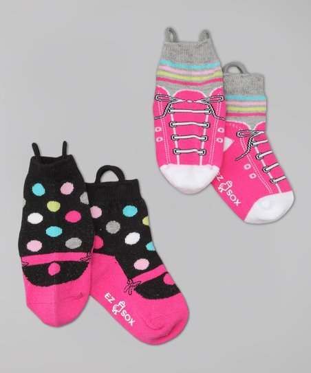 Pink Sneaker &amp; Mary Jane Socks Set