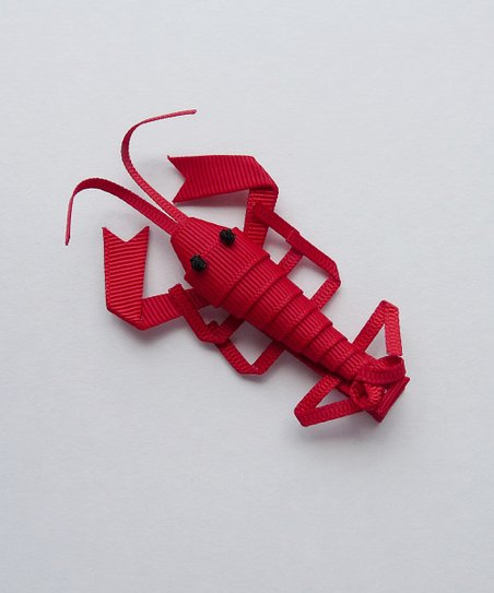 Bubbly Bows Red Lobster Clip