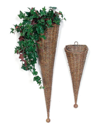 Brown Wall Basket Set