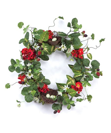 Geranium Nest Wreath