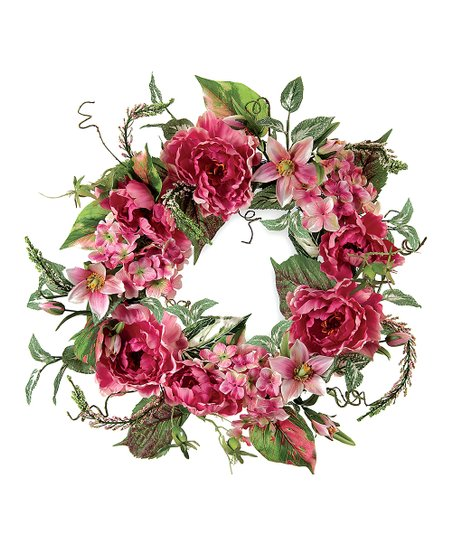 Pink Mixed Floral Wreath