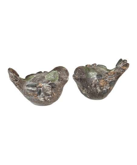 Pebble Bird Figurine - Set of Two