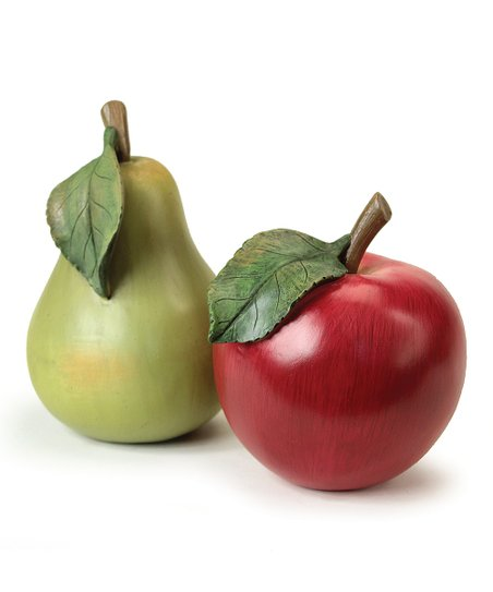Pear & Apple Figurine Set