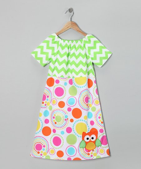 Green Whooo Me? Dress - Infant, Toddler & Girls