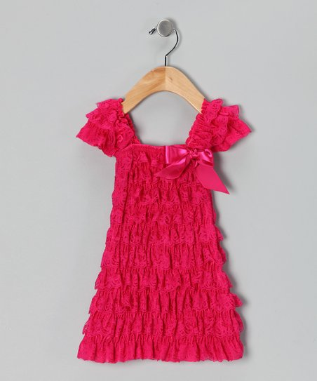 Ginger Hares Pink Lace Ruffle Dress - Girls