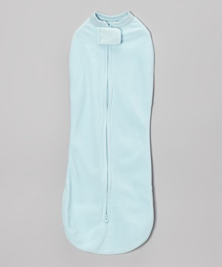 Blue Winter Woombie Zipper Swaddle