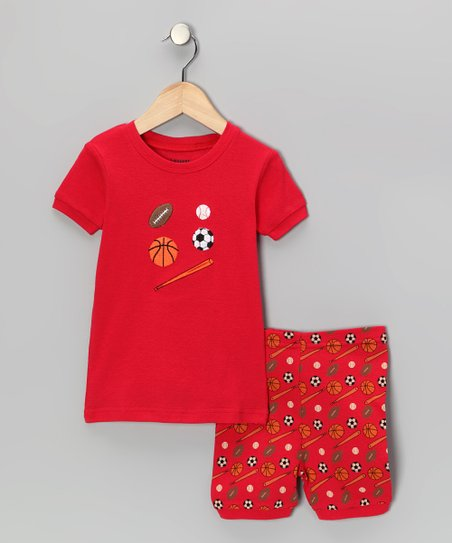 Red Sports Pajama Set - Infant, Toddler & Kids