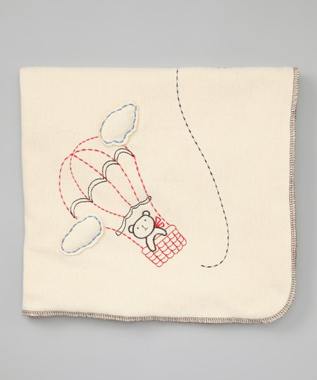 Cream Balloon Organic Stroller Blanket