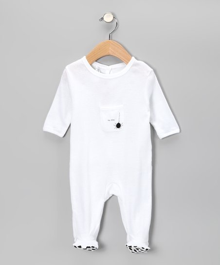 White 'Itsy Bitsy' Footie - Infant
