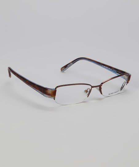 Chocolate Tortoise Square Half-Rim Glasses
