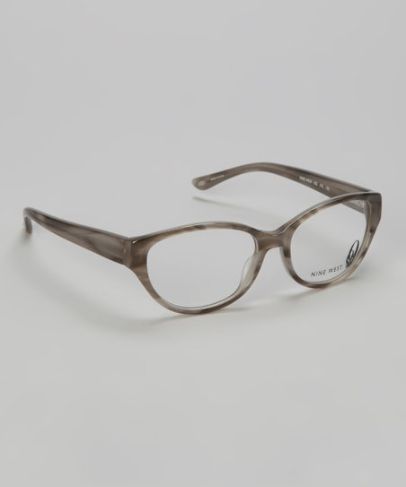 Gray Striated Cat-Eye Glasses