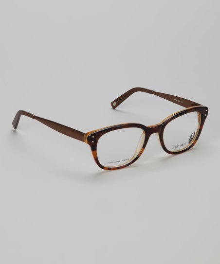 Brown Tortoise Round Glasses