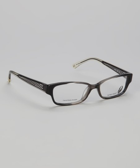 Gray &amp; Smoke Rectangular Glasses