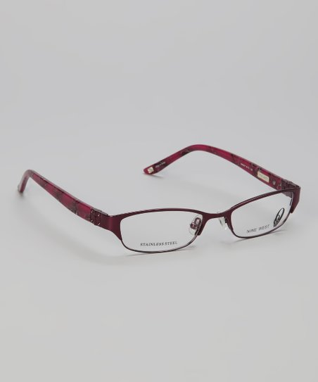 Purple Metal Rectangular Glasses