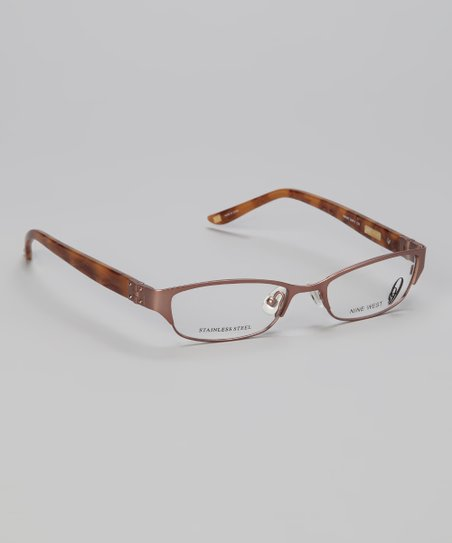 Satin Sand Metal Rectangular Glasses