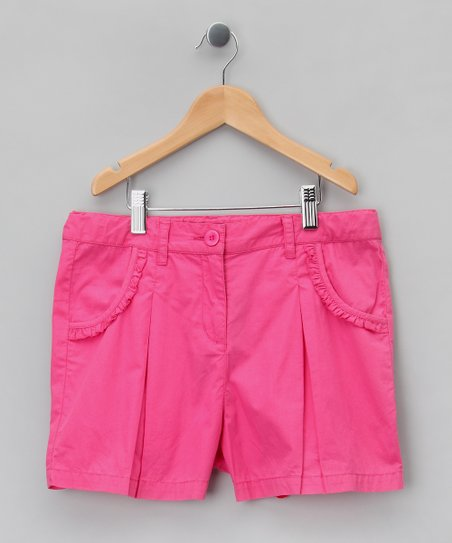 Framboise Pleated Ruffle Shorts - Girls