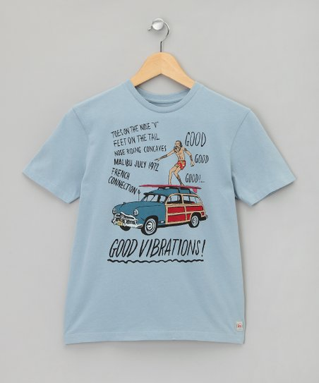 Bleu Surf 'Good Vibrations' Tee - Boys